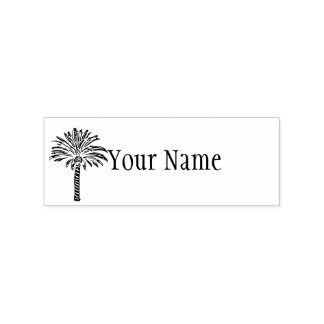 Palm Tree Personalized Rubber Stamp