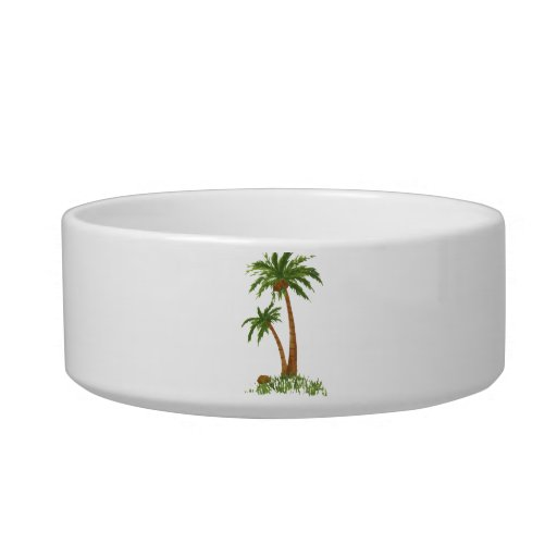 Palm Tree Pet Bowls (2) sizes Cat Bowl