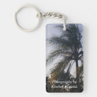 Palm Tree-Photo-key chain Double-Sided Rectangular Acrylic Keychain
