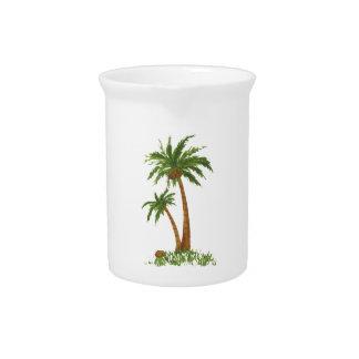 Palm Tree Pitchers 19oz