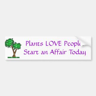 palm-tree Plants LOVE People Start an Affair T Bumper Sticker