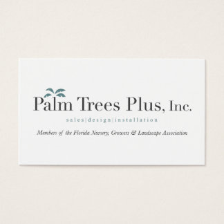 Palm Tree Plus Business Cards