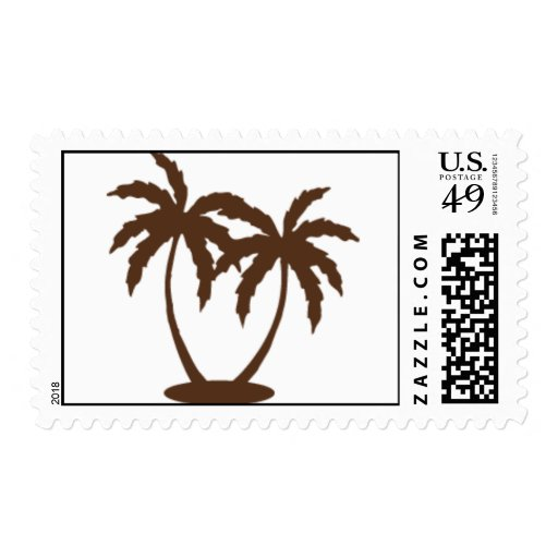 Palm Tree Postage Stamp