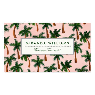 Palm Tree Print Business Cards