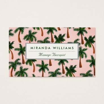 Professional Business Palm Tree Print Business Cards