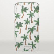 Palm Tree Print iPhone X Case
