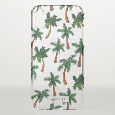 Beach Themed Palm Tree Print iPhone X Case