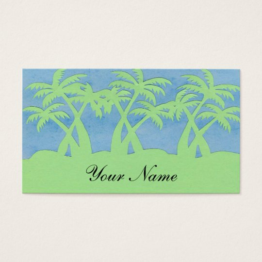 PALM TREE PROFILE CARDS