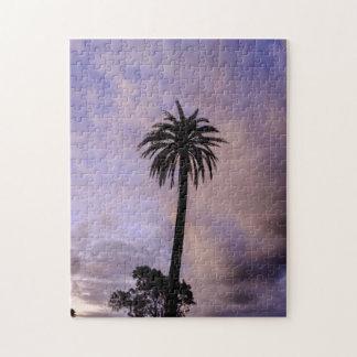 Palm Tree Purple Sky Jigsaw Puzzle