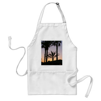 Palm Tree Purple Sunset Photography Adult Apron