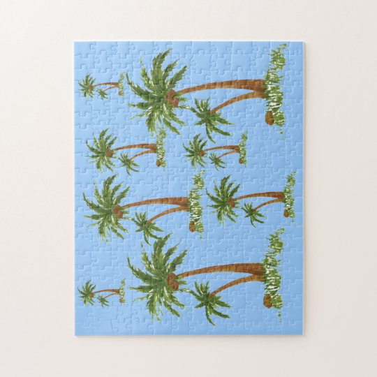 "Palm Tree Puzzle 10X14"""