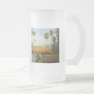 Palm Tree Ranch 16 Oz Frosted Glass Beer Mug