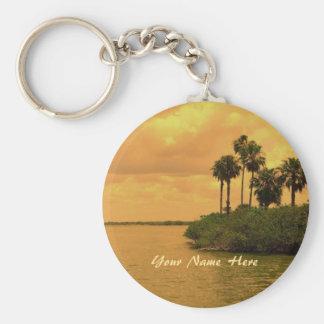 Palm Tree Reverie Custom Keychain