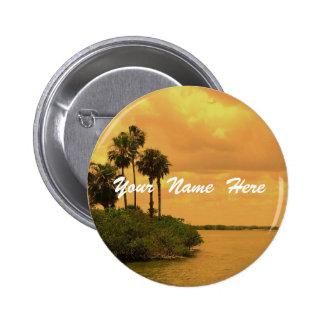 Palm Tree Reverie Custom Pinback Button