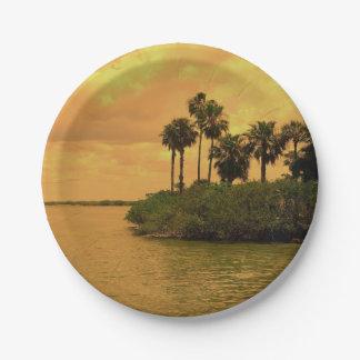 Palm Tree Reverie Paper Plate