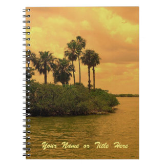 Palm Tree Reverie Personalized Notebook