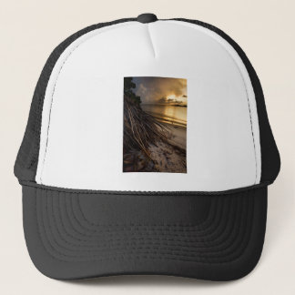 Palm Tree Roots at Sunset Trucker Hat