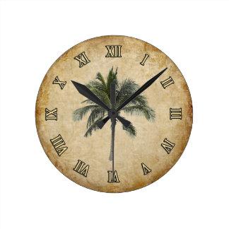 Palm Tree Round Clock
