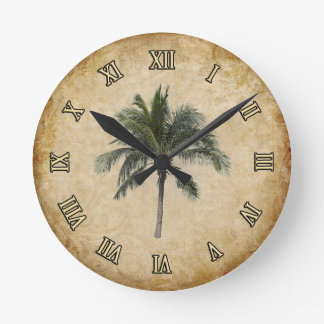 Palm Tree Round Clock
