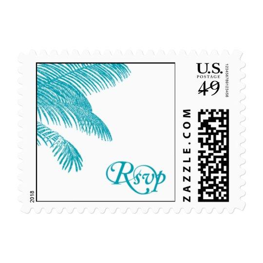 Palm Tree RSVP Postage Stamp