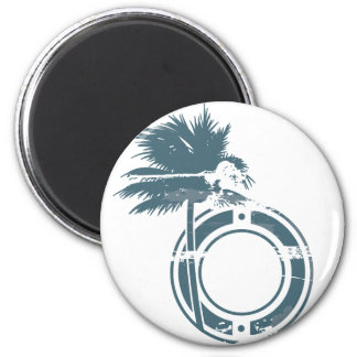 Palm Tree Rubber stamp Magnet