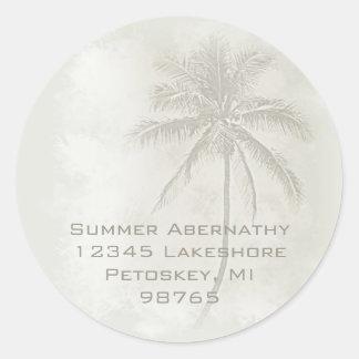 Palm Tree (Sand) Classic Round Sticker