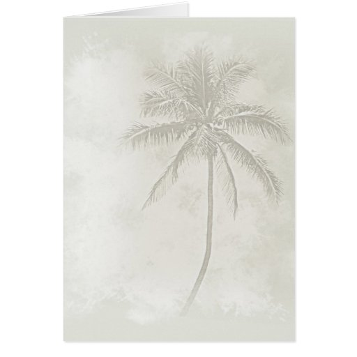 Palm Tree (Sand) Greeting Card