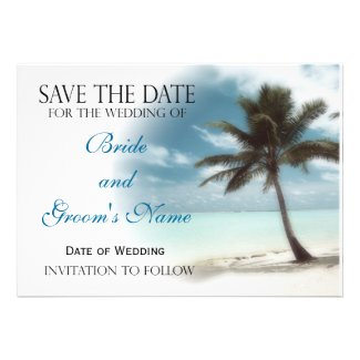 Palm Tree Save the Date Announcement
