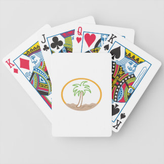 PALM TREE SCENE APPLIQUE BICYCLE PLAYING CARDS