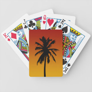 Palm Tree Silhouette Beach Party Game Bicycle Playing Cards