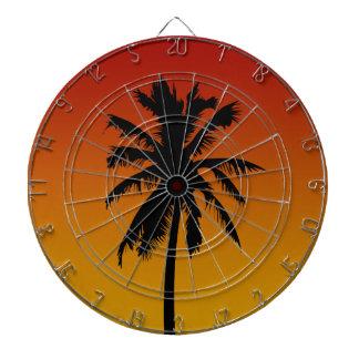 Palm Tree Silhouette Beach Theme Dart Board