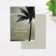 Palm Tree Silhouette Beach Wedding Favor Tags at Zazzle