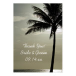 Palm Tree Silhouette Beach Wedding Favor Tags Large Business Card