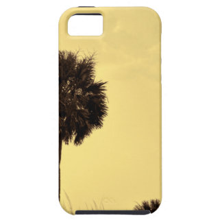 Palm Tree Silhouette in Yellow Tones iPhone SE/5/5s Case