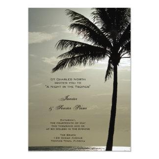 Palm Tree Silhouette Junior / Senior Prom Invite