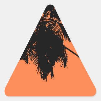 Palm Tree Silhouette Triangle Sticker