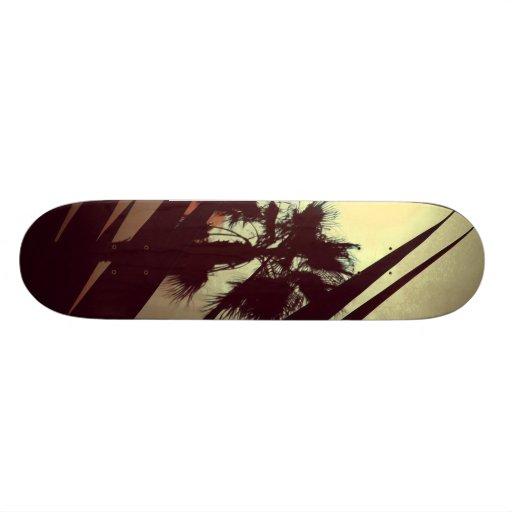 palm tree skate board