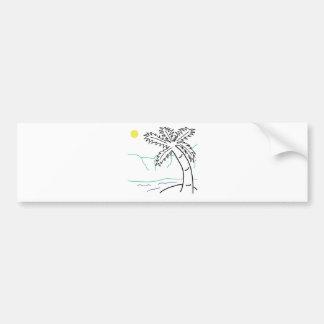 Palm tree sketch bumper stickers