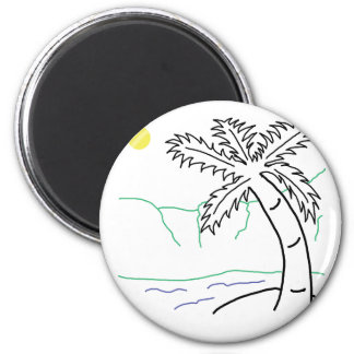 Palm tree sketch magnets