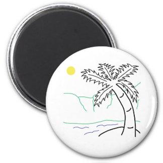 Palm tree sketch refrigerator magnets
