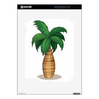 Palm tree decal for iPad 2