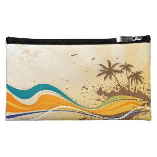 Palm Tree Splash Cosmetic Bags