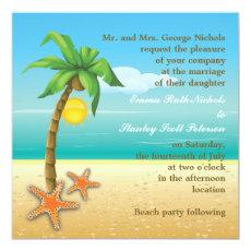 Palm tree & starfish beach destination wedding 5.25