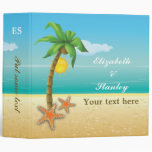 Palm tree & starfish beach wedding planner binder binders