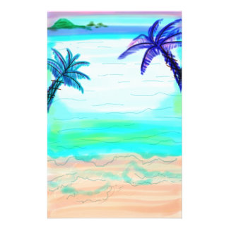 Palm Tree Stationary Paper