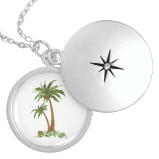 PALM TREE STERLING SILVER NECKLACE