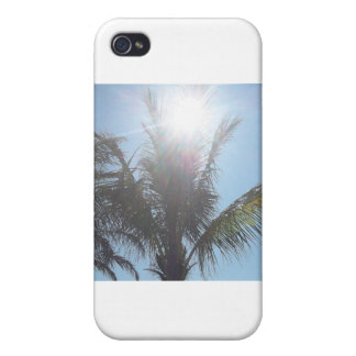 Palm Tree Summer Day iPhone 4 Cover