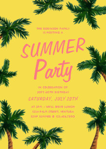 summer party invitations zazzle