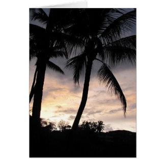 Palm Tree Sunrise Card