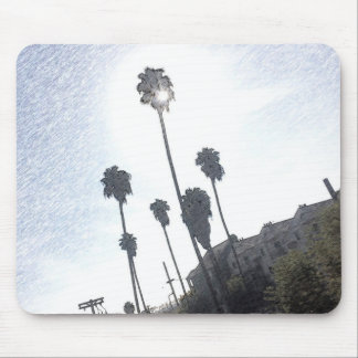 Palm Tree Sunrise Sketch Mouse Pad